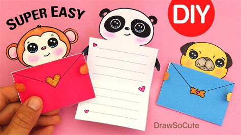 draw so message cards template how to make easy message cards animals