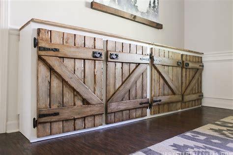hometalk upcycled barnwood style cabinet