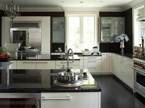 cool kitchens ideas home design 87 cool black and white kitchenss