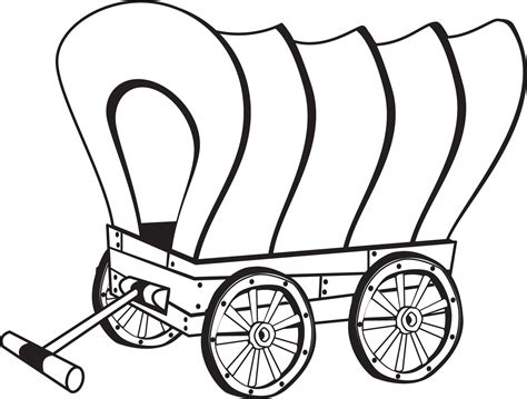 Wagon Coloring Pages covered wagon coloring page coloring home