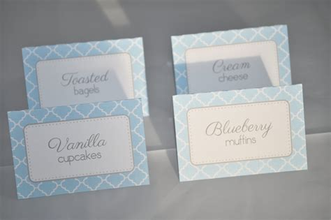 food labels for baby shower boys baby shower food label tent cards buffet labels
