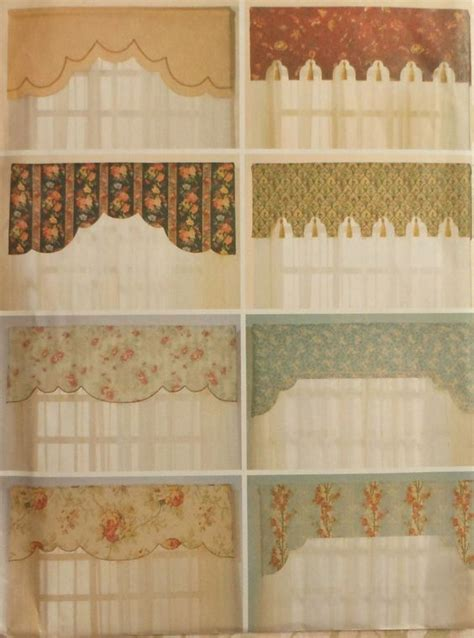 curtain sewing pattern reversible valances sewing pattern uncut butterick 6563