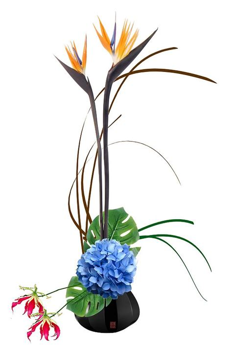 Japanese Decorative Of Flower Arrangement by Japanese Floral Arrangement Ikebana Birds Of Paradise