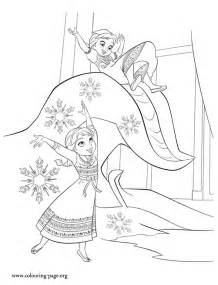 frozen printable coloring pages frozen and elsa in a winter
