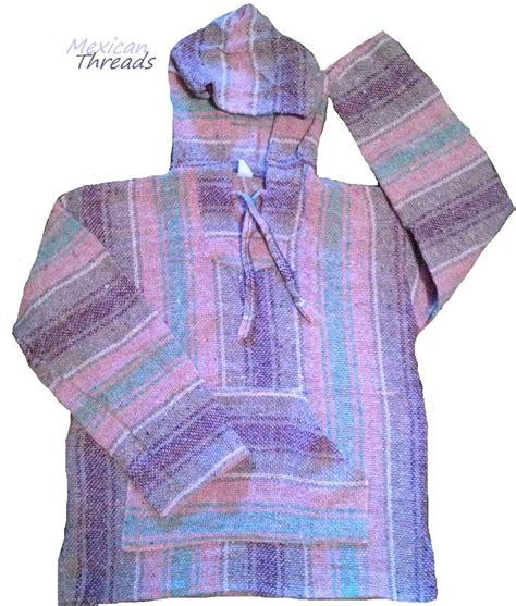 rug sweatshirts pink purple baja hoodie rug mexican threads rugs pastel colors colors