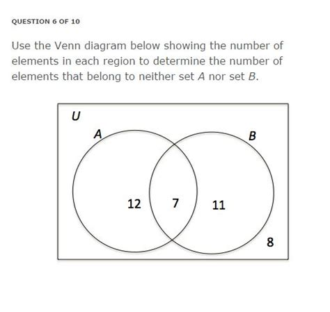 solved use the venn diagram below showing the number of e