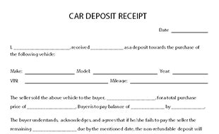 Car Deposit Receipt Template Pdf by Deposit Receipt Template Creating Deposite Receipts Free