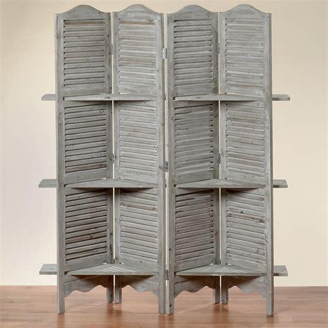 etagere grau paravent avec 233 tag 232 re jive 180x140x30 cm shabby gris 4