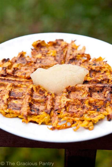 The Gracious Pantry by Clean Sweet Potato Waffles Recipe The Gracious Pantry