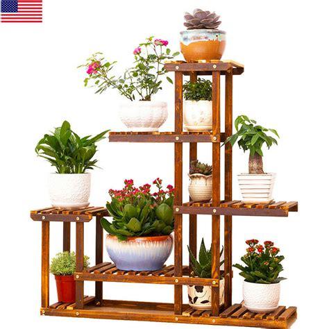 heavy duty wood tier plant stand shelf indooroutdoor