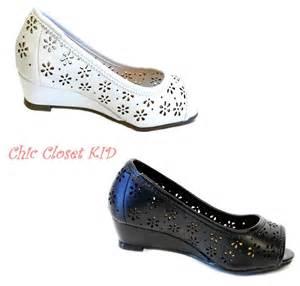 Little girls jr youth high wedge heel open toe summer pageant sandals
