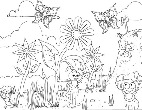 Insect Coloring Sheets For Kids Coloring Pages Butterfly Free Printable Spring Coloring Pages L