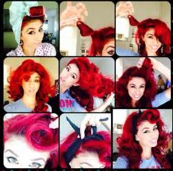 pin up hair vintage hair rockabilly style fast hair do