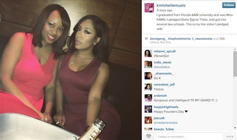 did tanika ray pledge sorority k michelle allegedly deletes jab aimed at sorority