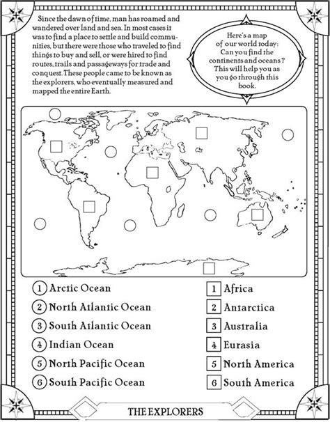 printable geography games find the oceans and continents page free printable