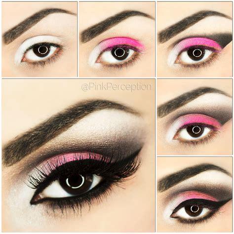 tutorial makeup eyeshadow pink pink smokey eye makeup tutorial pink perception
