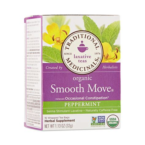 Smooth Move Detox by Organic Smooth Move Tea By Traditional Medicinals Thrive