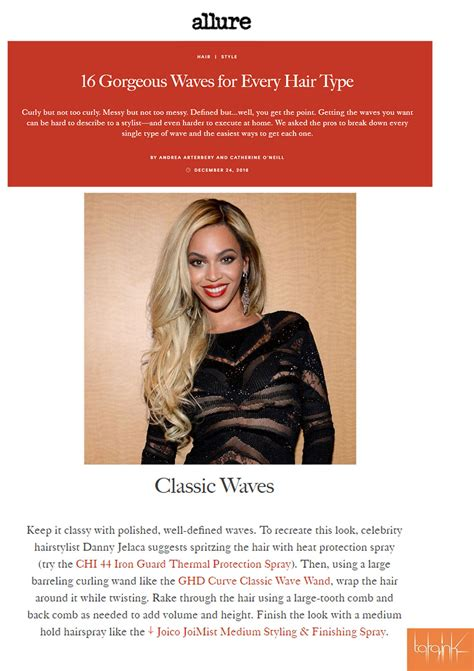 best hair color tested by allure magazine allure magazine features danny jelaca for gorgeous waves