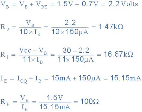 gain resistor formula emitter resistance and the transistor emitter resistor