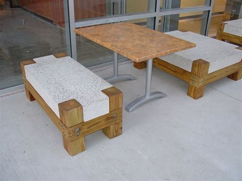 concrete bench legs photo gallery outdoor furniture austin tx the