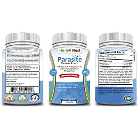 Do Detox Flush Out Tapeworms by Parasite Cleanse Plus Detox Formula For Treatment Of