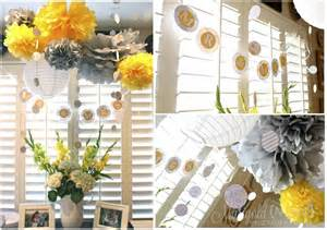 Bridal Shower Decorations by Yellow And Grey Bridal Shower Hello Brielle