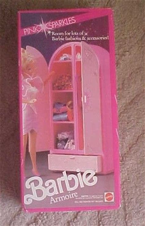 barbie armoire barbie pink sparkles clothing armoire furniture storage barbie homes and furniture