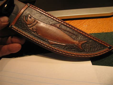 Handmade Knife Sheath - j behring handmade ivory filet knife tarpon sheath