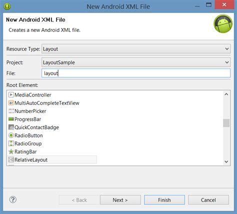 xml layout tool designing an android user interface using the graphical