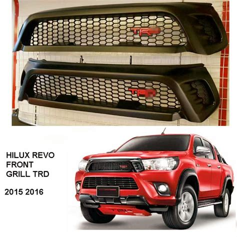 Front Grille Trd Sportivo All New Hilux 2015 2017 hilux revo trd grill truck front grill grille hilux revo sr5 m70 m80 2015 16
