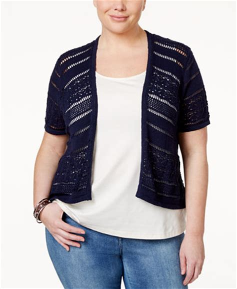 Sale Sepatu Casual Michael Size 39 Saja Limited style co plus size knit shrug only at macy s