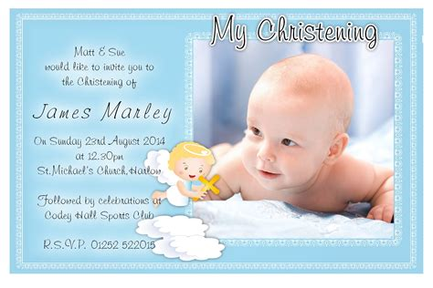 sample christening invitation card for baby boy archives