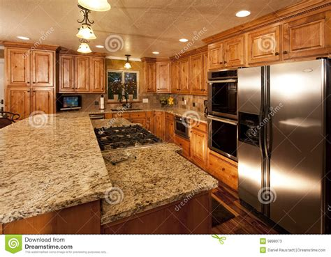 a customised centre island with new kitchen island stock photos image 9898073