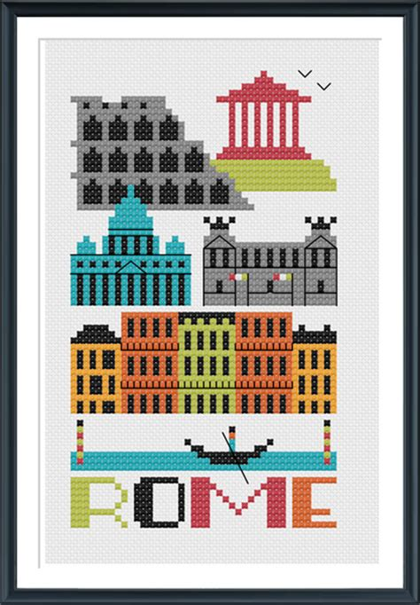 italy rome pdf free download rome italy cross stitch pattern instant download tiny