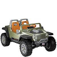 power wheels traction jeep hurricane green