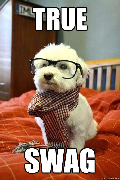 Hipster Dog Meme - true swag hipster dog quickmeme