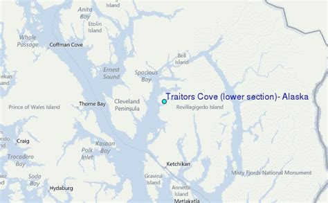 section 8 location traitors cove lower section alaska tide station