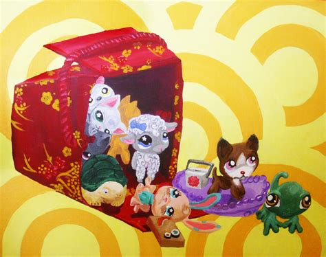 littlest pet shop painting littlest pet shop by sutata on deviantart