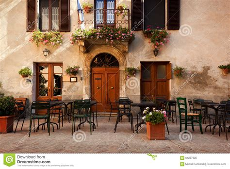 French European House Plans retro romantic restaurant cafe in a small italian town