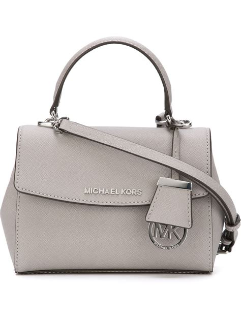 Handbag Mk Mini michael michael kors mini tote in gray lyst