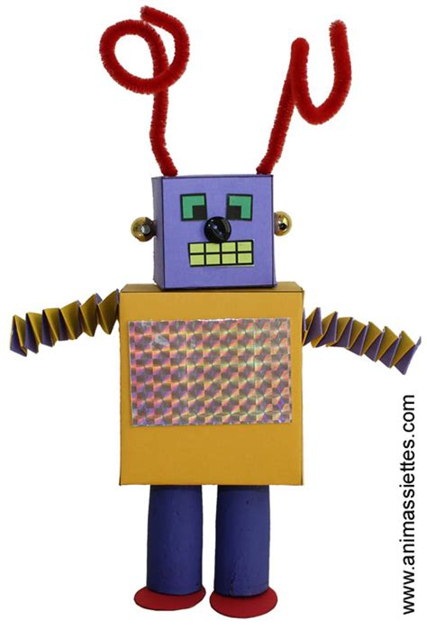How To Make A Paper Robot For - comment faire un cube en papier article animassiettes