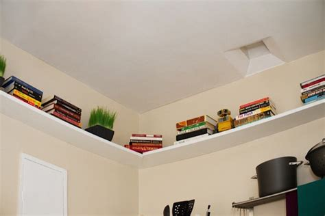 Kitchen Ceiling Shelves 15 Unique Kitchen Ideas For Storing Cookbooks
