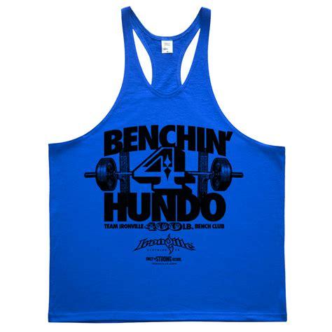 bench press 400 400 pound bench press club stringer tank top ironville clothing