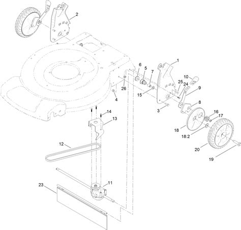 toro personal pace lawn mower parts diagram toro parts 22in recycler lawn mower