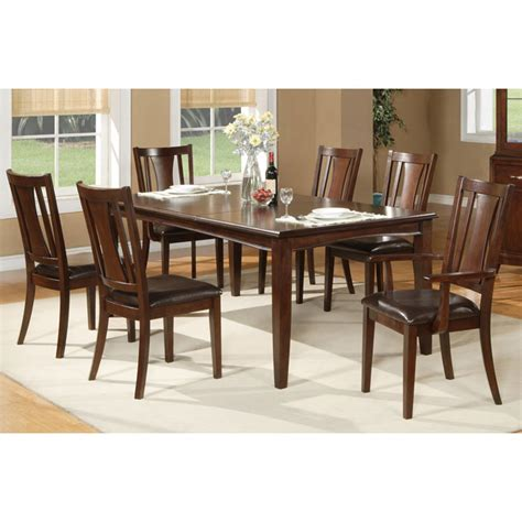 lakeport 7 dining set with extension table dcg bradbury 7 extension dining set in cappuccino dcg stores
