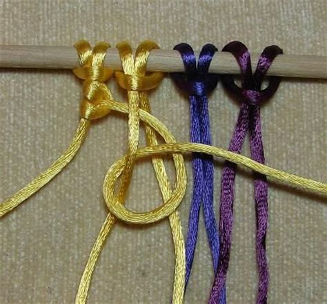 Macrame Step By Step - 12 basic macram 233 knots tutorials steps with pictures