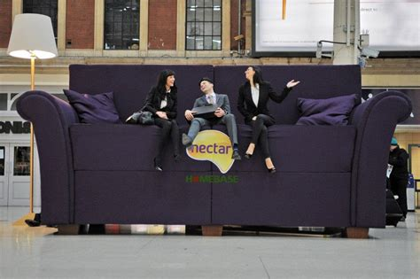 victoria couch station giant sofa placed in victoria station in nectarsofa stunt