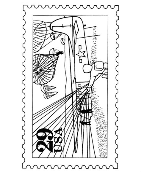 Bluebonkers D Day Landing Postage St Coloring Pages D Day Coloring Pages