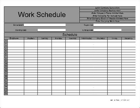 blank weekly schedule form calendar template 2016