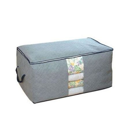 Terbaru Storage Box 65 Liters Bamboo Charcoal Clothing Boxes Tempat B buyincoins 65l bamboo charcoal clothes blanket folding storage organizer box bag closet 01